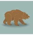 Kodiak angry bear vector image