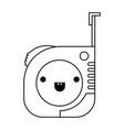 Measure tape icon monochrome kawaii silhouette vector image