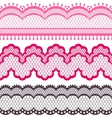 Old lace ribbons abstract ornament texture vector image