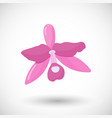 orchid flat icon vector image
