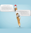 Pencil with bubbles for text vector image