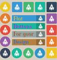 Rocket icon sign Set of twenty colored flat round vector image