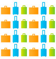 seamless pattern of luggage vector image