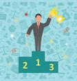 success business concept vector image
