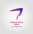 Colorful arrow business logo template using vector image