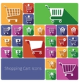 Shopping cart icons set flat vector image