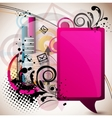 abstract email background vector image
