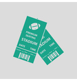 American football tickets icon vector image