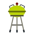 Barbecue grill icon flat style vector image