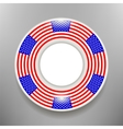 Ceramic Plate with American Flag Print Isolated vector image