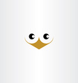cute bird face icon vector image