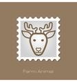 Deer stamp Animal head vector image
