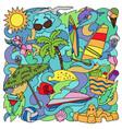 doodle summer beach vector image
