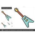 Electric guitar line icon vector image
