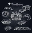 flour products hand drawn collection vector image