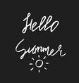 hello summer - hand drawn brush text handdrawn vector image