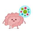 microscopic bad bacterias microflora viruses vector image