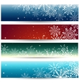 Set of Web banners with snowflakes vector image