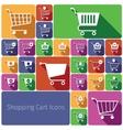 Shopping cart icons set flat vector image