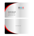 silver black and red business card vector image