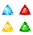 Trilliant Shaped Gems set vector image