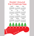 Christmas rock and roll calendar vector image vector image