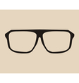 Big black eye glasses vector image