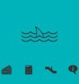 Shark fin icon flat vector image
