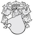 aristocratic emblem No43 vector image vector image