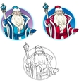 Russian Christmas Character Father Frost lineart vector image vector image