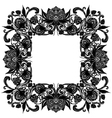 Vintage baroque flourish luxurious frame hop cones vector image