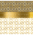 white and gold clover seamless pattern in ar deco vector image
