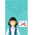 Operator of technical support vector image