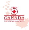 Canadas County design Maple leaf icon Made in vector image