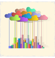 Rainbow city Concept background vector image vector image