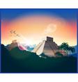 ancient Mayan pyramids vector image