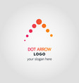 abstract business logo template in dot colorful vector image