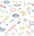 children hand drawn seamless pattern vector image