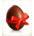 Chocolate easter egg icon vector image