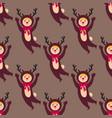 cute deer kids wearing christmas costumes vector image