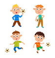 little boys playing vector image