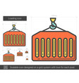 loading line icon vector image