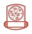 pizza restaurant emblem icon vector image