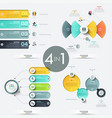 set of 4 creative infographic design templates vector image