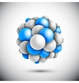 Sphere in form of the molecule vector image