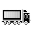 truck cargo container icon vector image
