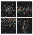 Confetti isolated on black background vector image vector image