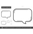 Speach bubble line icon vector image