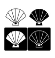 Sea shell icon vector image vector image