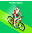 Cycling Mountain Bike 2016 Summer Games 3D vector image vector image